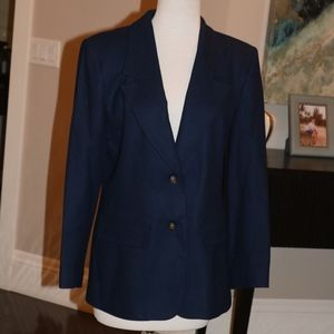 Vintage Pendleton Wool blazer jacket Navy 6